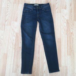 Free People Skinny Stretch Dark Wash Jeans